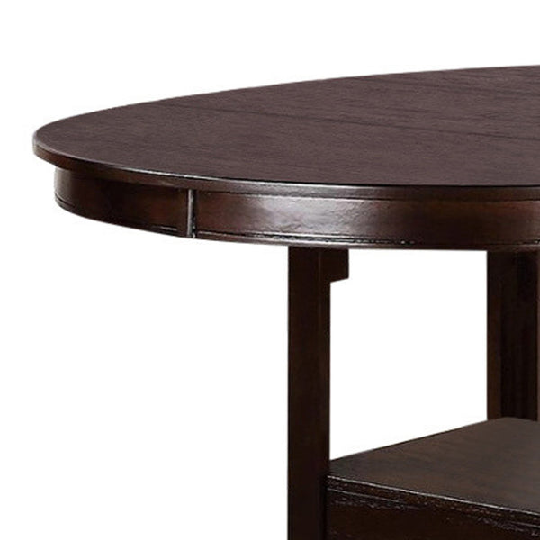 Wooden Counter Height Table, Brown - BM171297
