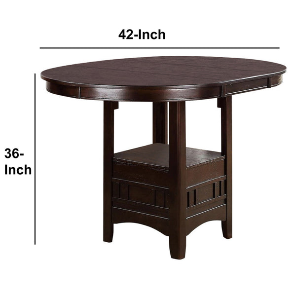 BM171297 Wooden Counter Height Table, Brown