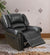 BM171448 Bonded Leather & Plywood Recliner/Glider, Black