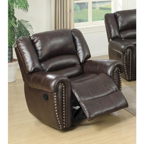 BM171450 Bonded Leather & Plywood Recliner/Glider, Brown