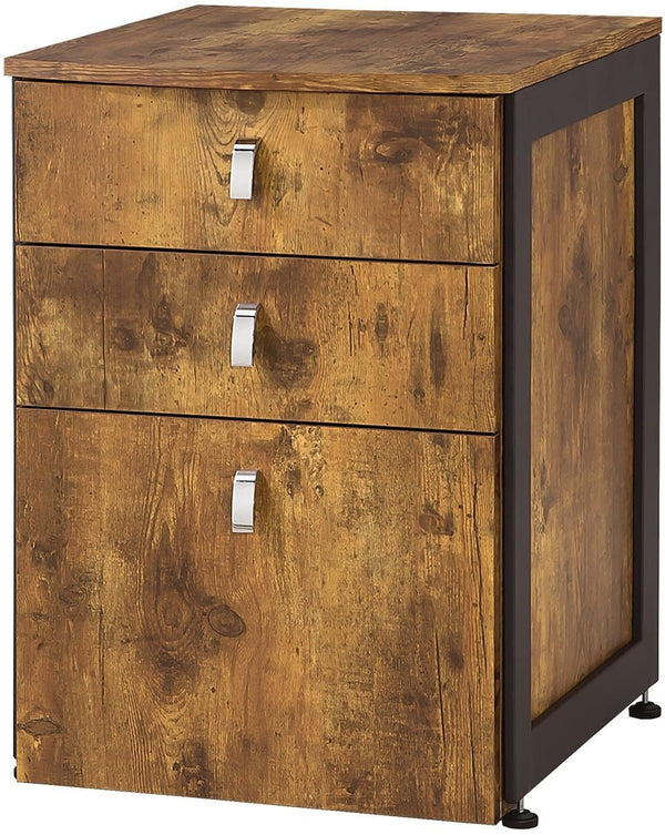 BM172226 File Cabinet with 3-Drawers, Natural