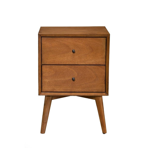 BM172817 Mahogany Wood Nightstand