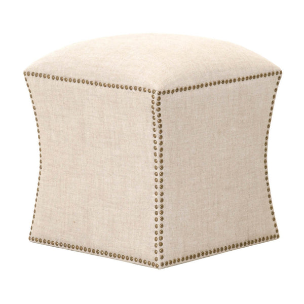 BM174252 Fully Upholstered Ottoman, Bisque Cream