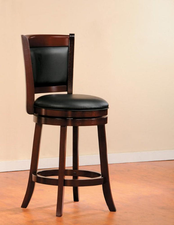 BM174375 Wooden Counter Height Chair In Cherry Brown