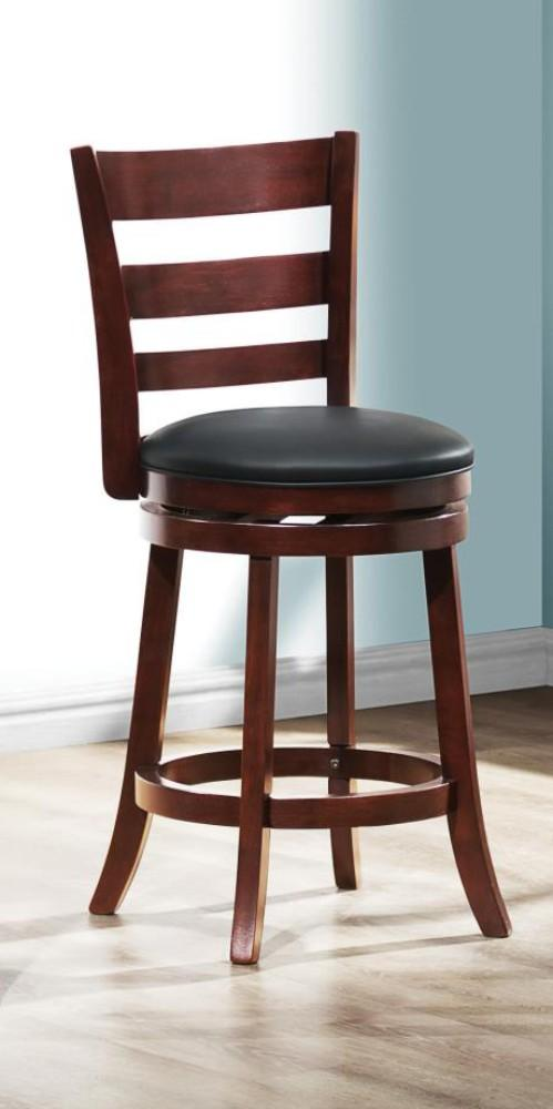 BM174381 Counter Height Chair With Padded Seat In Cherry Brown