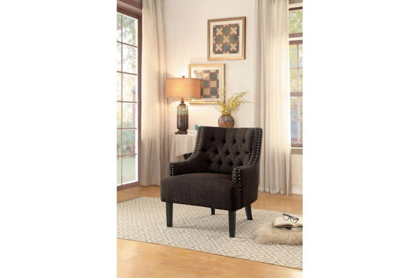 BM174392 Accent Chair With Nail Head Detail In Brown