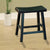 "BM175975 Wooden 18"" Counter Height Stool with Saddle Seat, Black, Set Of 2"