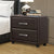 2 Drawer Night Stand In Wood And PVC, Black - BM179894
