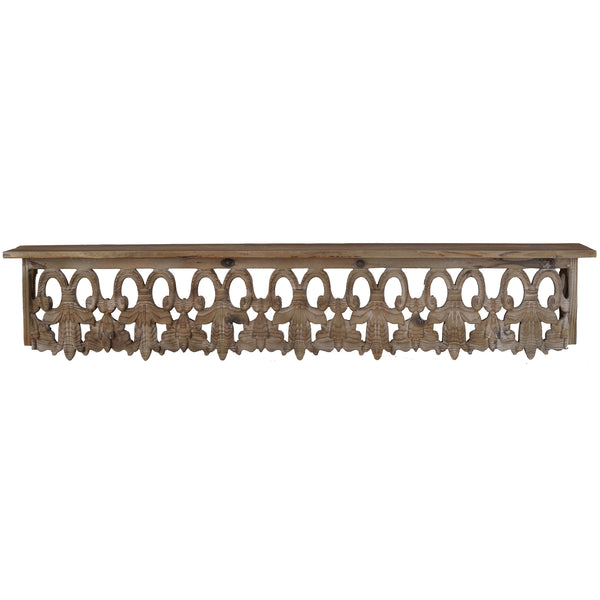 Aesthetic Wooden Wall Shelf, Large, Brown - BM180979