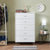 Contemporary Style Wooden Chest with Five Drawers, White