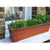 Rectangular Metal Flower Planter Box with Embossed Line Design, Small, Copper - BM195217