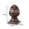 Ceramic Artichoke Bookends on Square Base, Pair of 2, Brown - BM200648
