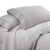 Udine 3 Piece Twin Size Microfiber Sheet Set with Crochet lace , Gray - BM202182