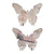 Butterfly Vintage Wall Decor with 4 Metal Hooks, Set of 2, Multicolor - BM202250