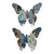 Butterfly Exotic Animal Print Wall Decor, Set of 2, Multicolor - BM202251