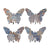 Butterfly Wall Decor with Abstract Print, Set of 4, Multicolor - BM202253