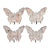 Butterfly Wall Decor with Vintage Print, Set of 4,Multicolor - BM202254
