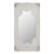 Wooden Rectangle Wall Mirror with Chipped Edges and Hook, White - BM202270