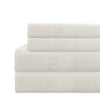 Lanester 4 Piece Deep Pocket Queen Size Microfiber Sheet Set The Urban Port, White - BM202354
