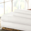 Lanester 4 Piece Deep Pocket Queen Size Microfiber Sheet Set , White - BM202354