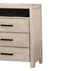 3 Drawer Rustic Style Media Chest with Open Compartment, White - BM203227