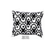 Cotton Pillow with Geometric Embroidery, Set of 2, White and Black - BM203477