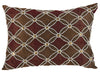 Poly Silk Embellished Cotton Pillow, Set of 2, Copper and Red - BM203529