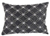 Poly Silk Embellished Cotton Pillow, Set of 2, Gray and Silver - BM203531