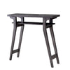 2 Tier Wooden Console Table with Slanted Leg Support in Distressed Gray - BM204124