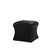 Leatherette Button Tufted Square Storage Ottoman with Seating, Black - BM204193