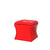 Leatherette Button Tufted Square Storage Ottoman with Seating, Red - BM204194