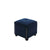 Fabric Upholstered Square Storage Ottoman with Nailhead Trim, Blue - BM204195