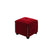 Fabric Upholstered Square Storage Ottoman with Nailhead Trim, Red - BM204197