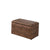 Leatherette Marble Pattern Wooden Ottoman with Hidden tray, Brown - BM204207