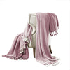 Montgeron Herringbone Cotton Throw The Urban Port, Set of 2, Pink and White - BM204255