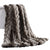 Eus Faux Fur Braided Reverse Flannel Throw The Urban Port, Brown and Gray - BM204276