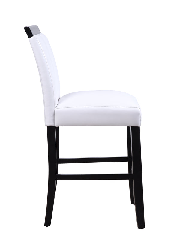 Wooden Counter Height Chairs with Cutout, Set of Two, White and Black - BM204364