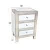 Contemporary Style Wooden End Table with Three Drawers, Silver - BM204712