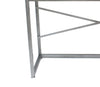Wooden Console Table with Metal Base and 3 Drawers, Brown and Silver - BM204723