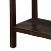 Transitional Sofa Table with Genuine Marble Top, Brown - BM205328