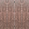 Textured and Bark Designed Wooden 4 Panel Room Divider , Natural Brown - BM205777