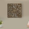 Square Rotten Wood Sandstone Wall Decor with Cut Out, Medium, Oak Brown - BM205822
