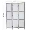Transitional 3 Panel Screen with Wooden Frame & Fabric Panels, Gray - BM205854