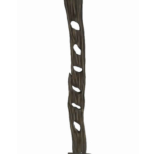 Contemporary Standalone Wooden Art Sculpture with Trunk Design, Brown - BM205880