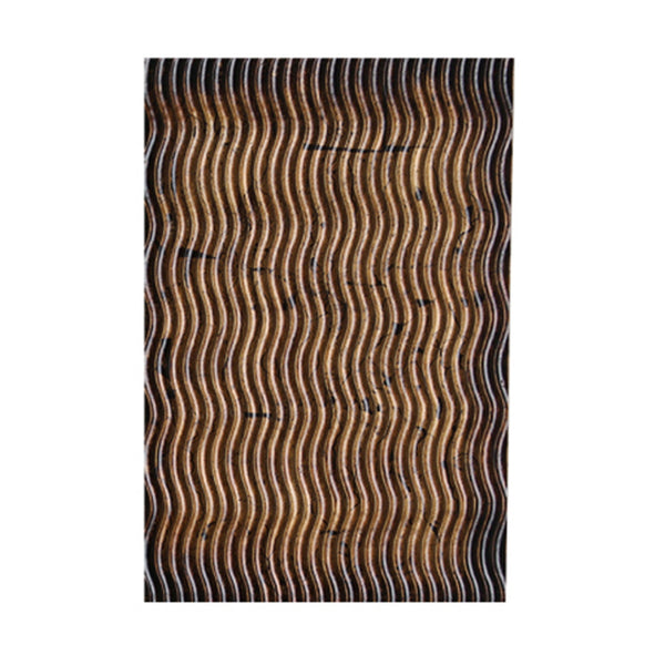 Modern Style Wooden Wall Decor with Wave Pattern, Multicolor, Set of 4 - BM205902