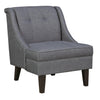 Fabric Upholstered Accent Chair with Tufted Details, Gray and Brown - BM206103