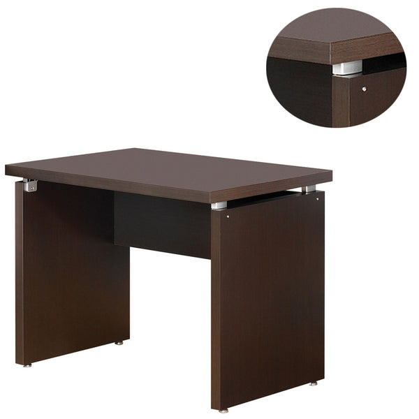 Transitional Style Wooden Desk Return with Wide Top, Espresso Brown - BM206505