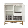 Honeycomb Design 2 Door Bar Cabinet with Metal Legs, White - BM206689