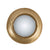 19 Inches Round Metal Wall Mirror with LED Light, Gold - BM206698
