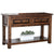 Transitional Sofa Table with Plank Top and 2 Drawers in Walnut Brown - BM208138